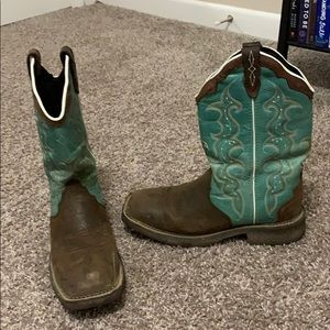 Shoes - Justin teal boots